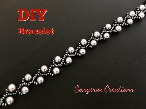 Pearl Vine Bracelet (DIY) very easy tutorial - YouTube #beads