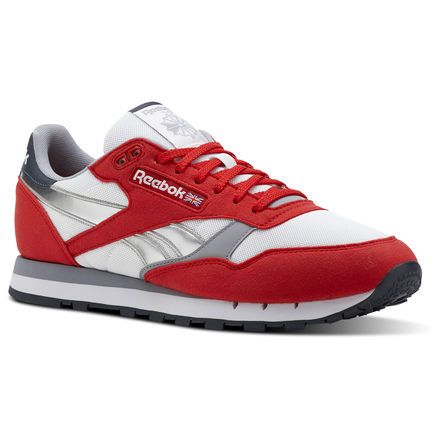 Classic Leather Men's Shoes | Classic leather, Red reebok