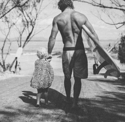 Серфинг, ребенок, дорога