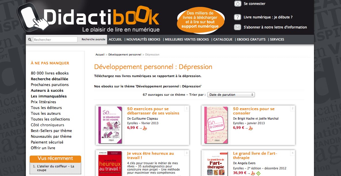 Rayon Dépression  http://www.didactibook.com/theme_et_tag/11/Developpement%20personnel/42/Depression