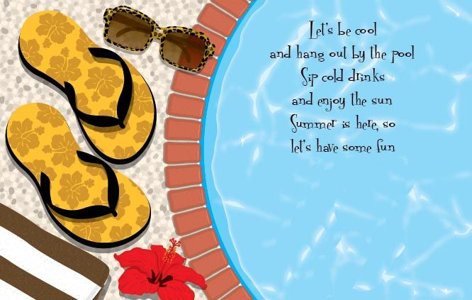 Free Print Pool Party Invitations Enjoy Our Free Pool Party