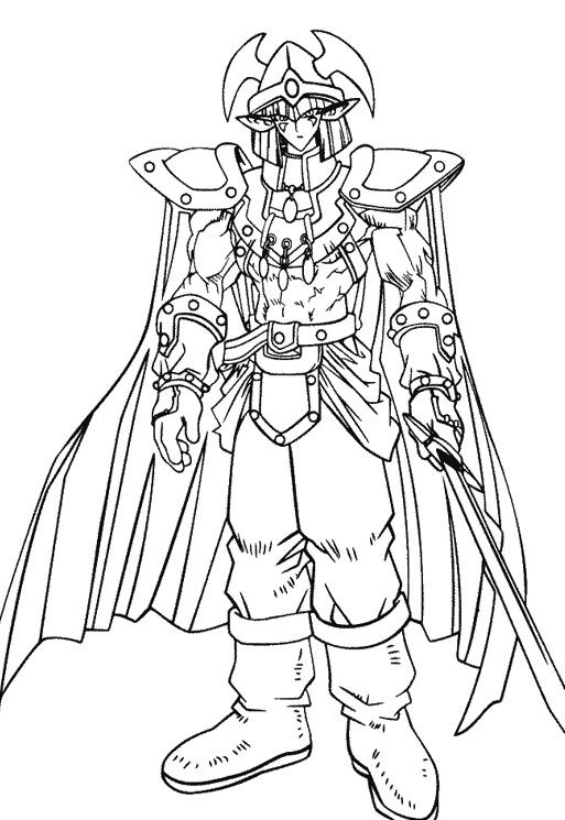 Yu Gi Oh Powered Enemy Strong Coloring Pages Yugioh Paginas