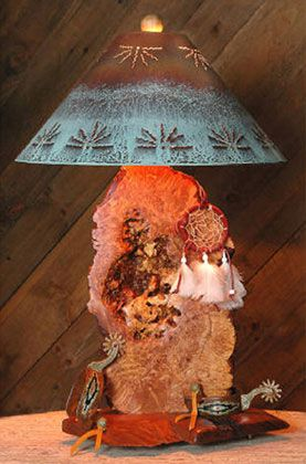 Perfect Southwestern Table Lamp With Shade