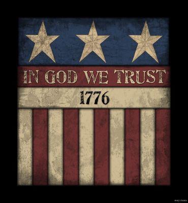 America In We Trust Wood Sign Primitive Rustic Americana Country Home Decor Ebay
