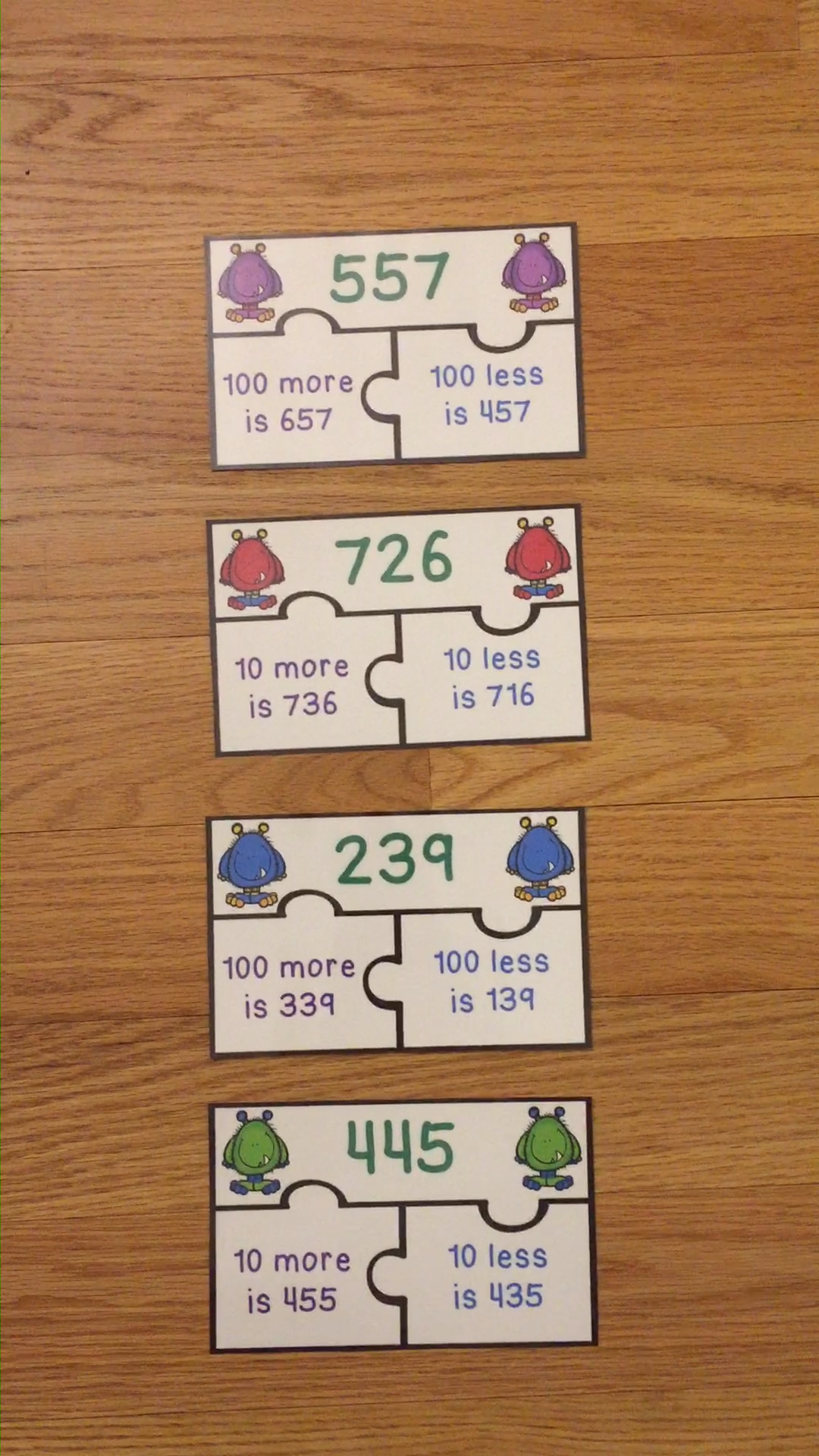 10 More 10 Less And 100 More 100 Less Game Puzzles 2nd Grade 2 Nbt 8 Video Interactive Teaching Ideas Math Center Rotations Math Intervention [ 1920 x 1080 Pixel ]
