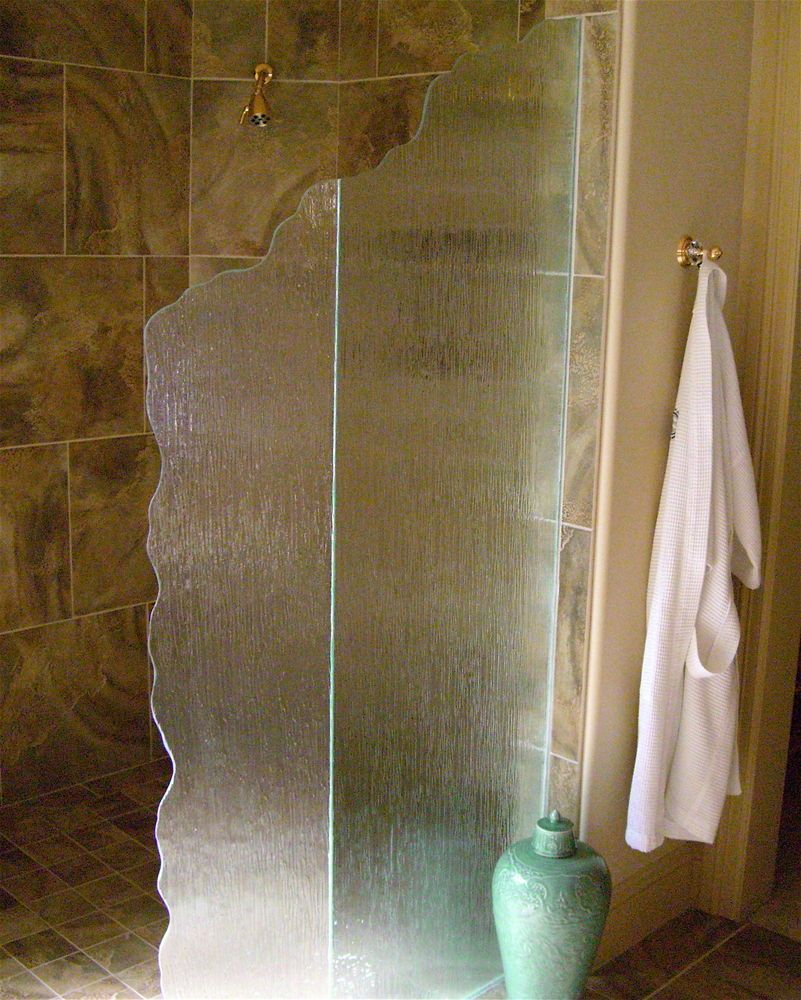 Bathroom luxury with interior glass doors sans soucie - Euro Rain Glass Shower Panels Sans Soucie I Like The Texture Of The Glass But Not