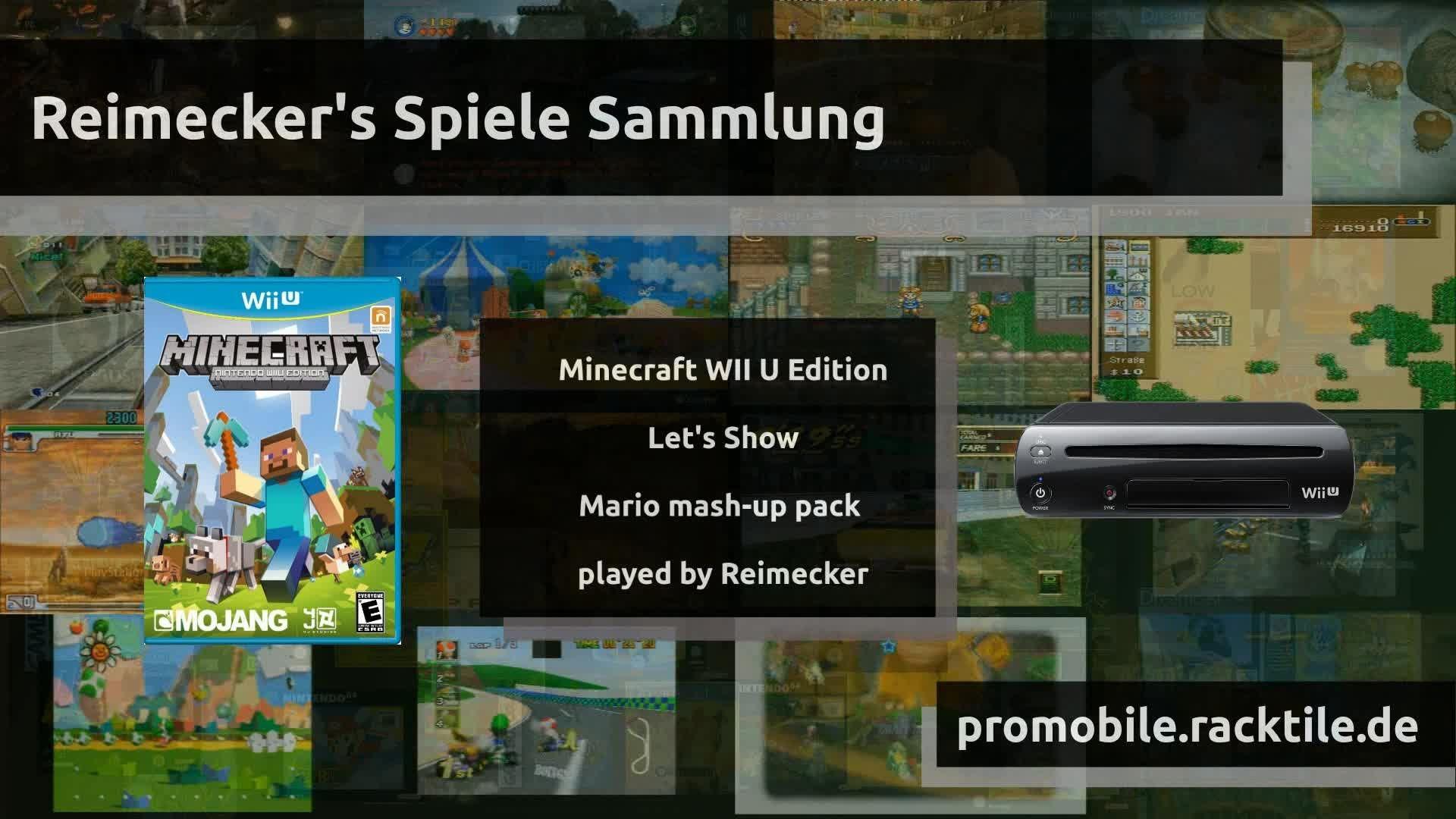 Let's Show : Episode 6 : Minecraft Textur / Mashup Paket Mario  [WII U]