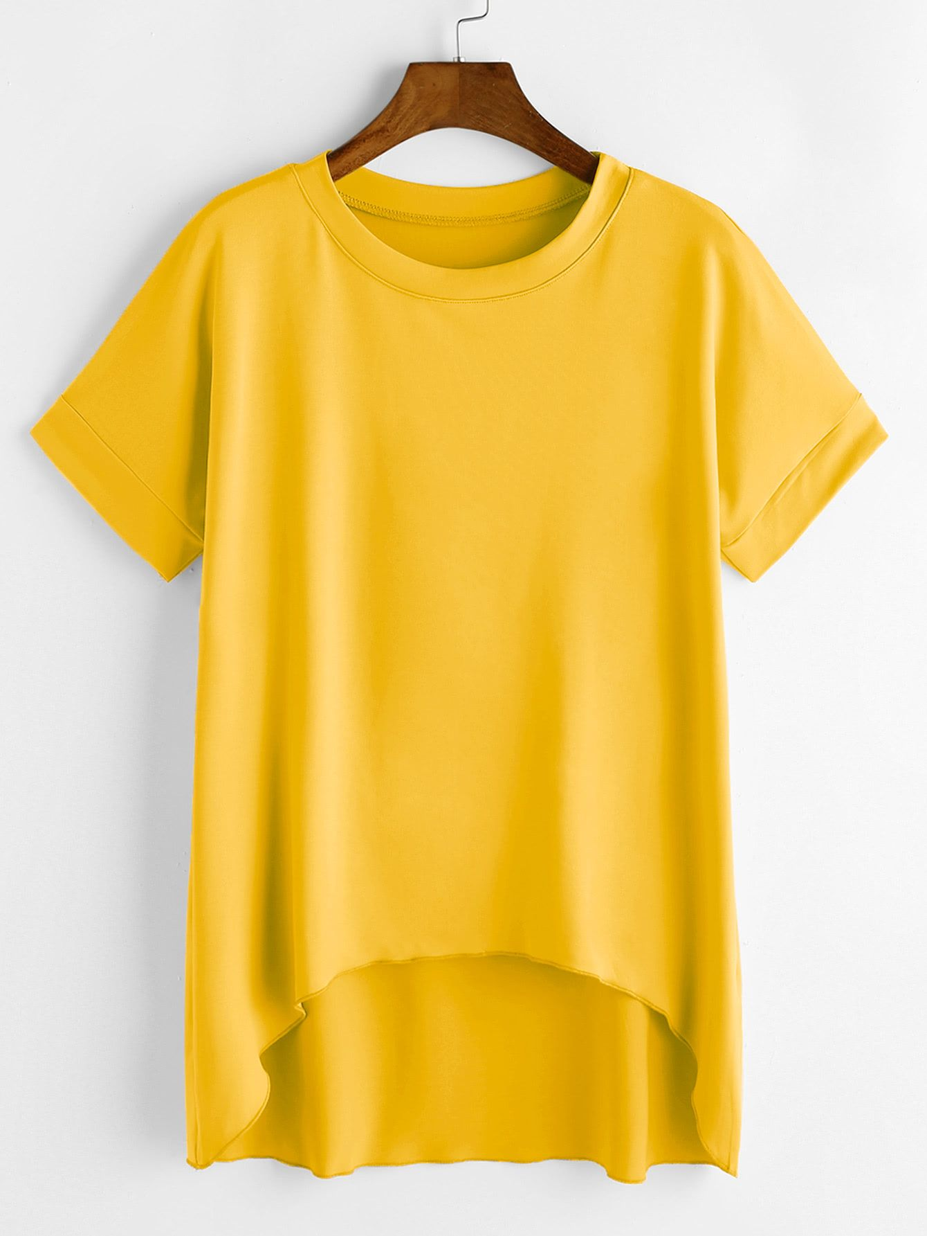 so cheap great fit look out for Shop Mustard Dip Hem Tee online. SheIn offers Mustard Dip ...