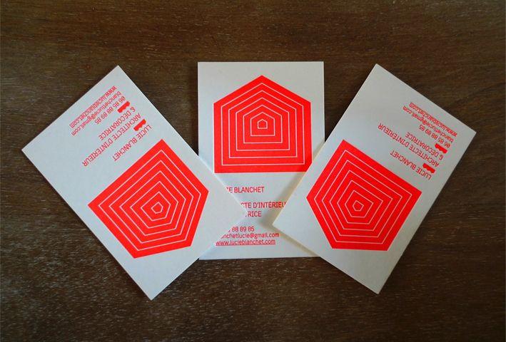 Cartes De Visite Lucie Blanchet Architecte D Interieur Letterpress