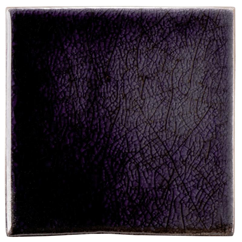 Ann Sacks Fire And Earth 4 X 4 Ceramic Field In 98 R Dark Purple Crackle Ann Sacks Tiles Ann Sacks Tile Art