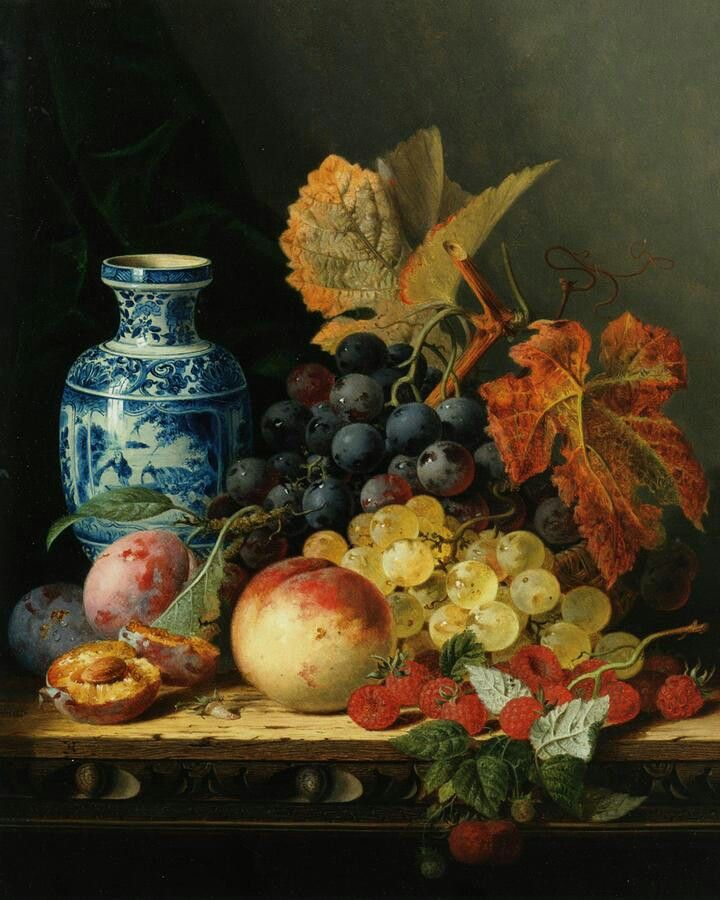 """Edward Ladell, 1821 - 1886 """"Still Life with Chinese Vase"""""""