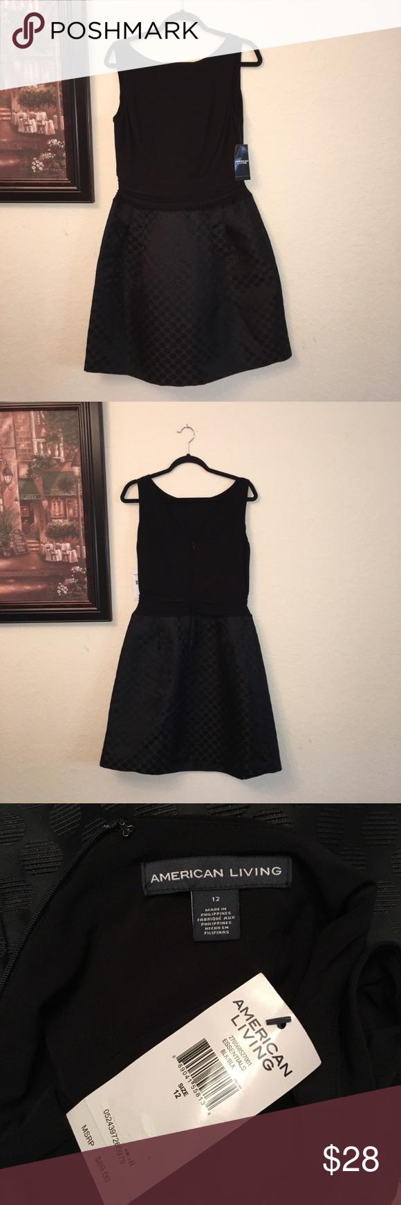 American Living Little Black Dress Size 12 Nwt Dresses Casual Winter Little Black Dress Casual Dresses For Women [ 1740 x 580 Pixel ]
