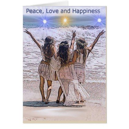 Bohemian peacelovehappiness greeting card birthday cards bohemian peacelovehappiness greeting card birthday cards invitations party diy personalize customize celebration bookmarktalkfo Image collections