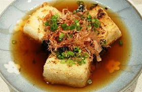 Whisky Green Tea: Agedashi Tofu
