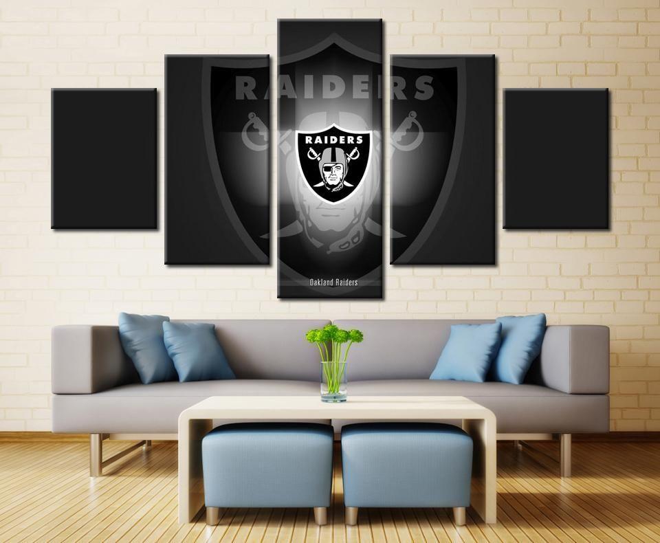 Oakland Raiders Sports Rugby Sport Full Hd Personalized Customized Canvas Art Wall Art Wall Decor In 2020 Football Wall Art Customized Canvas Art Canvas Art Wall Decor