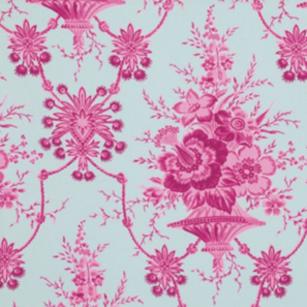 Floral Fabric – Jennifer Paganelli Nicki in Pink – a unique product by DinoFabric on DaWanda