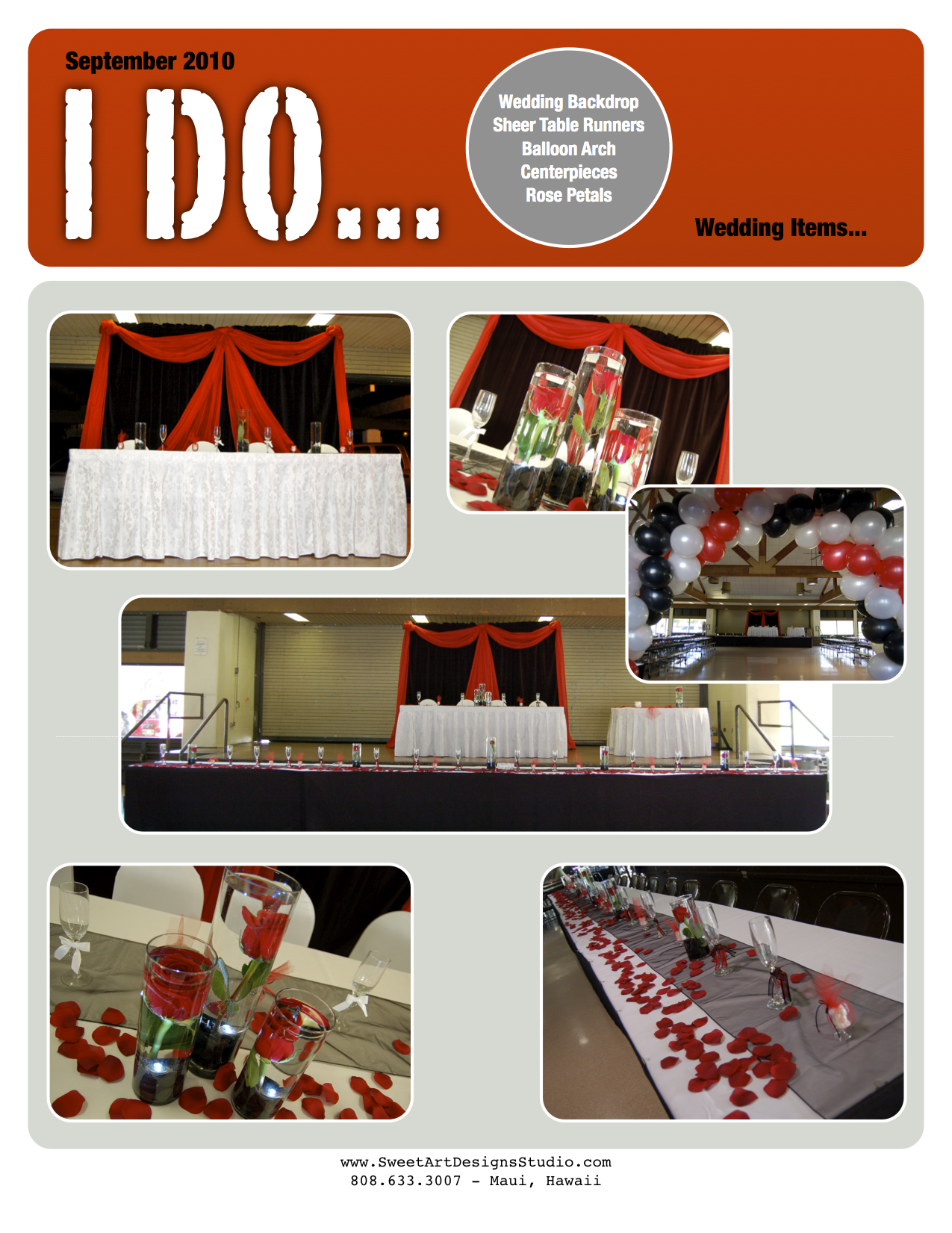 Black on black wedding decor  Wedding u Black Red White Backdrop balloon arch and more