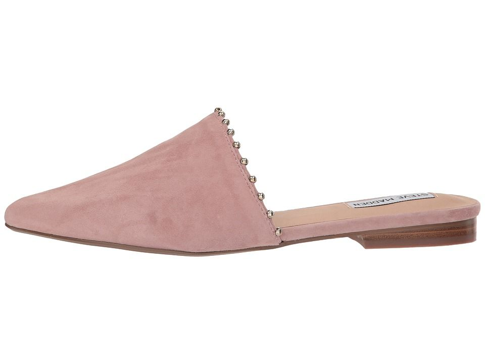9c03009193e Steve Madden Trace-B Flat Mule Women's Shoes Mauve Suede | Products ...