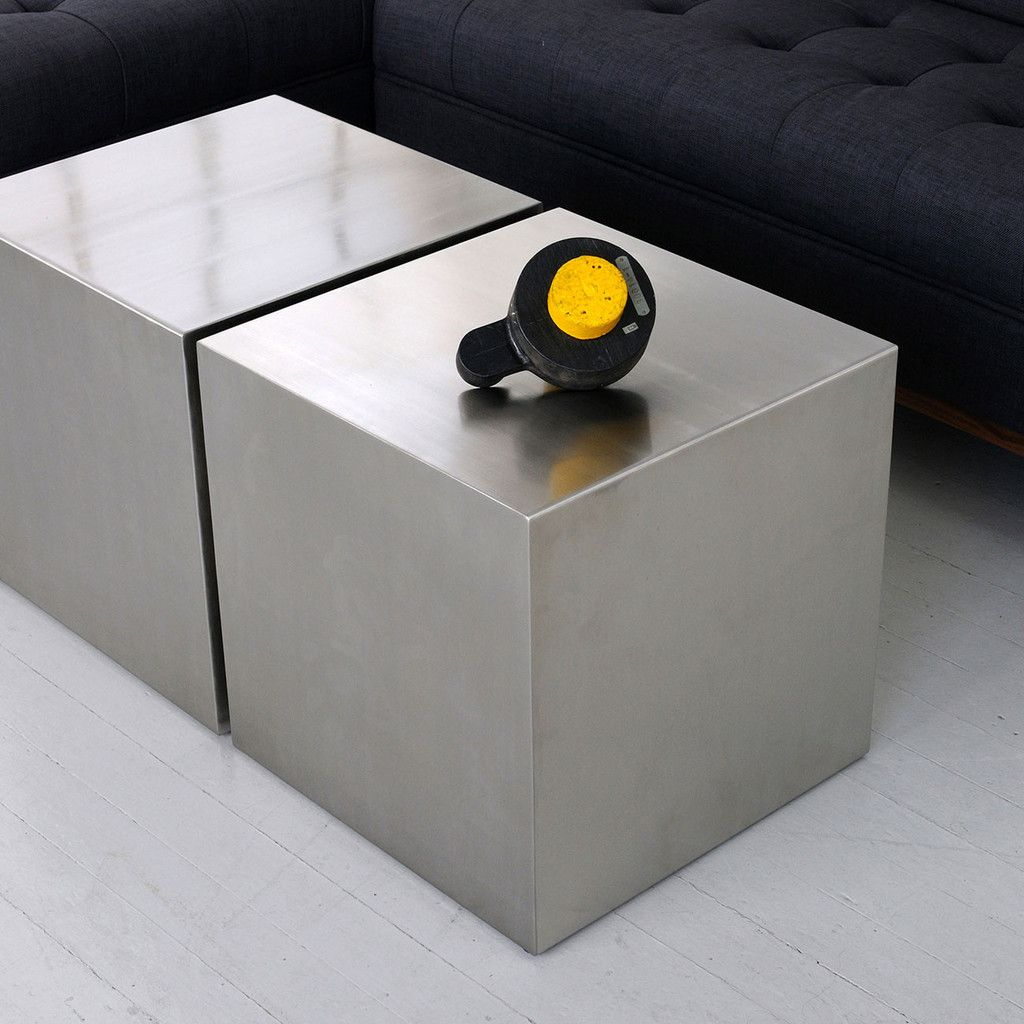 stainless steel cube  accent tables  gus modern side table  - stainless steel cube  accent tables  gus modern side table lobby