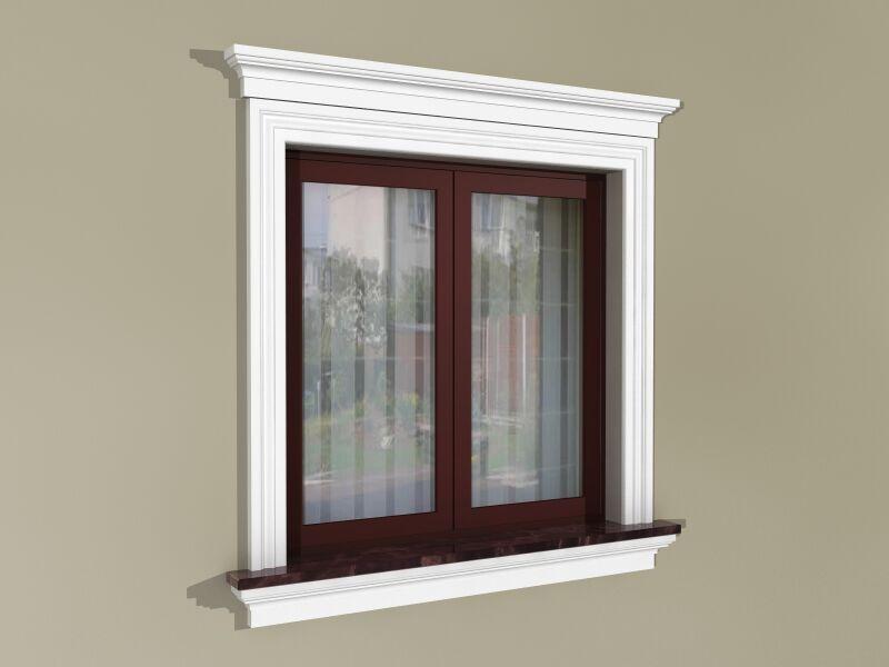 Fensterumrandung Außen   Herrschaftliches Set ZD2
