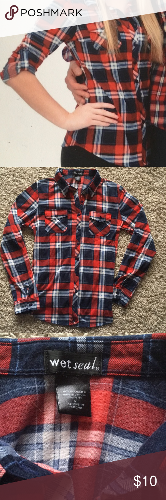 Button up flannel shirts  Juniors button up flannel shirt  My Posh Picks  Pinterest