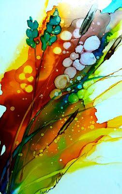 Alcohol Inks On Yupo Aquarelle Et Encre Peinture A L Encre