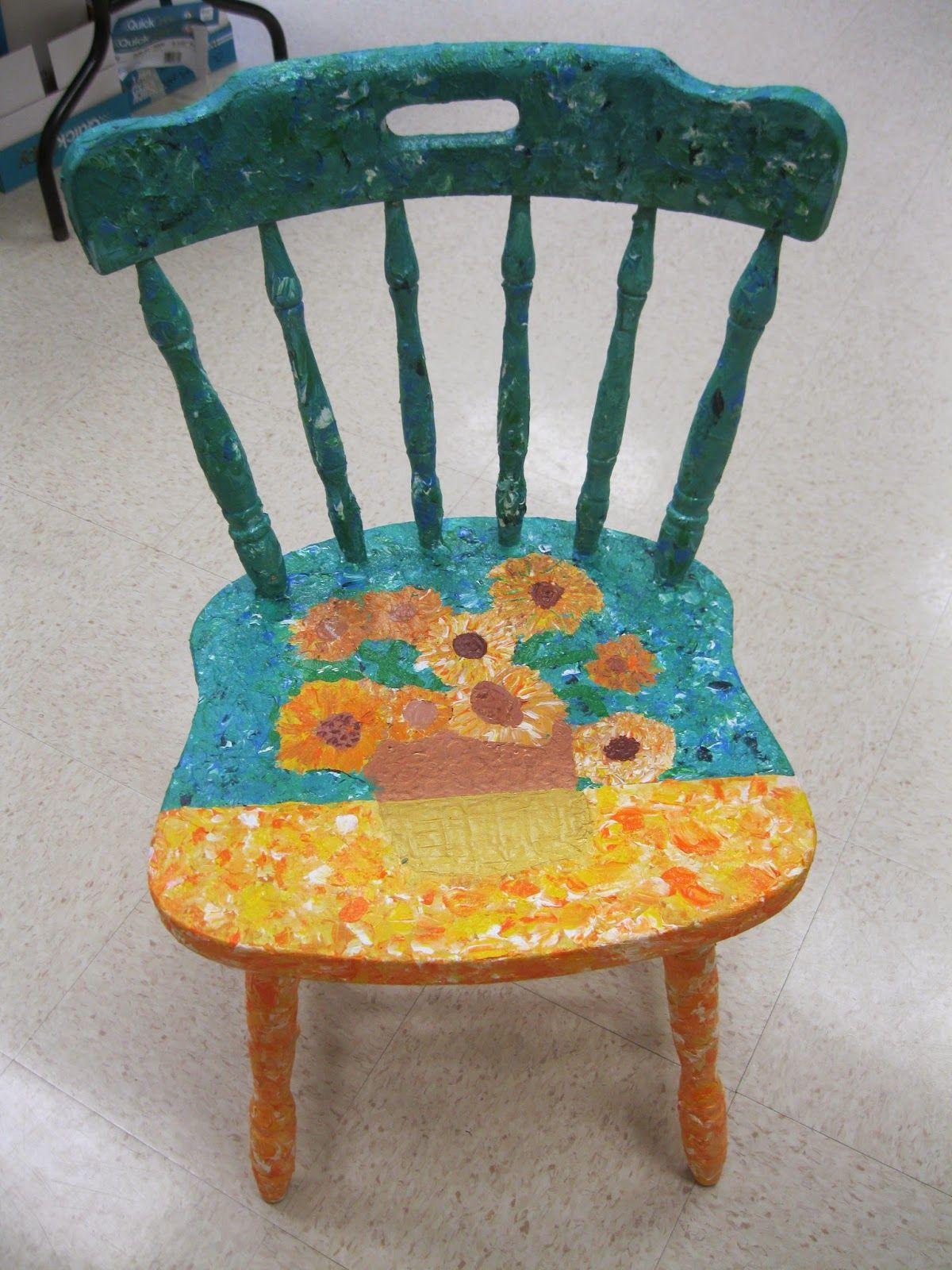 Mrs Love S Art Class Art Chair Painted Chairs Artist Chair