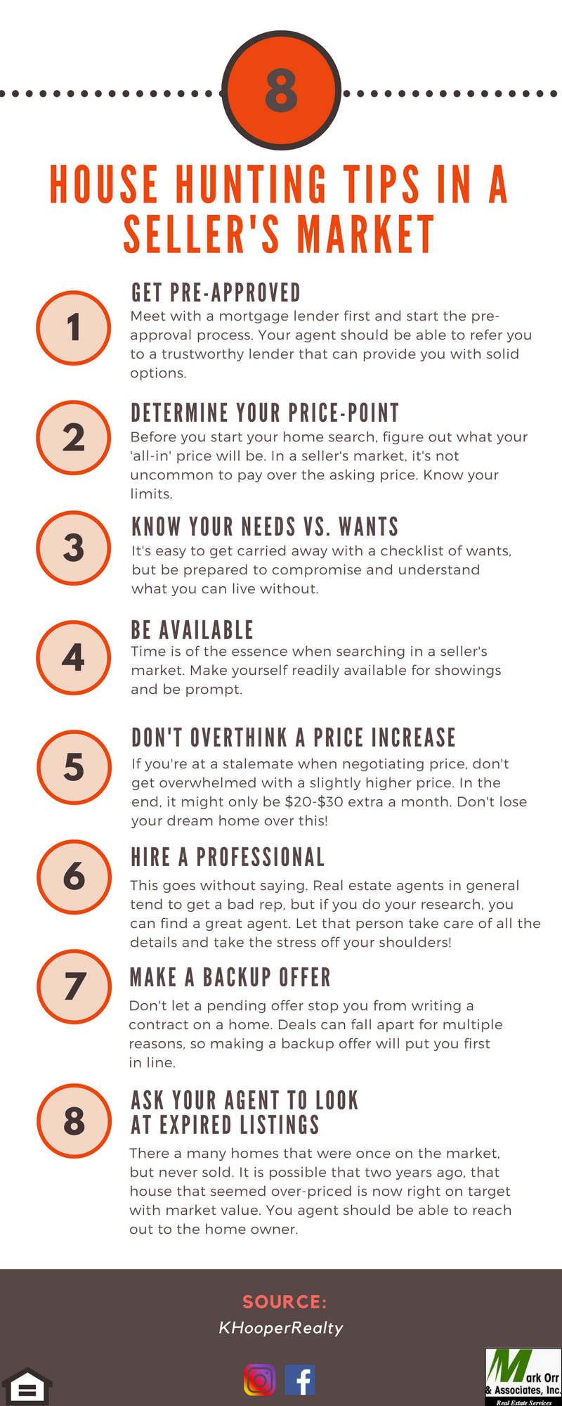 8 Tips For House Hunting In A Seller S Market House Hunting Real Estate Infographic Home Buying Tips
