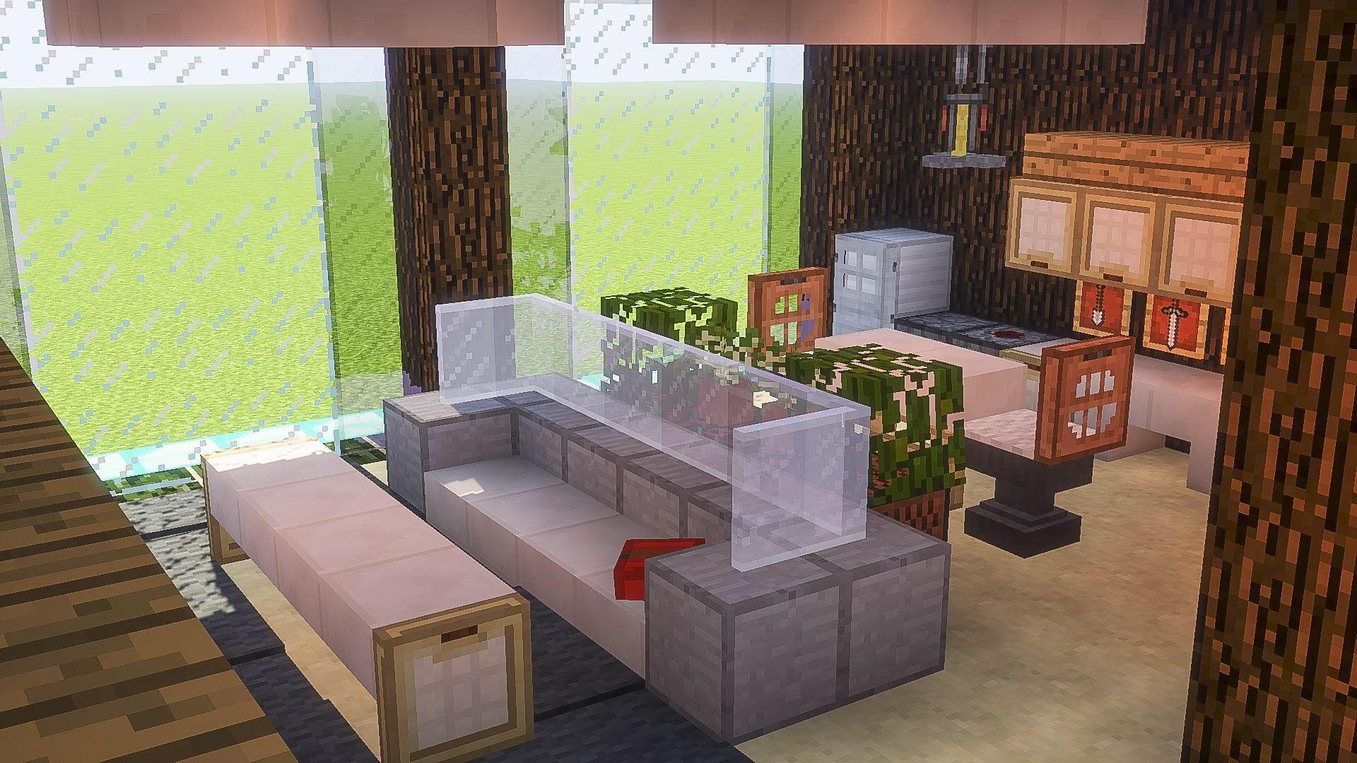 Utensil, coffee table  Minecraft interior design, Minecraft