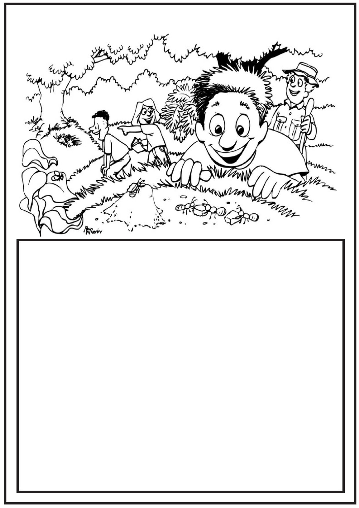 Ant Coloring Pages - seven printable classroom ready pages with ...