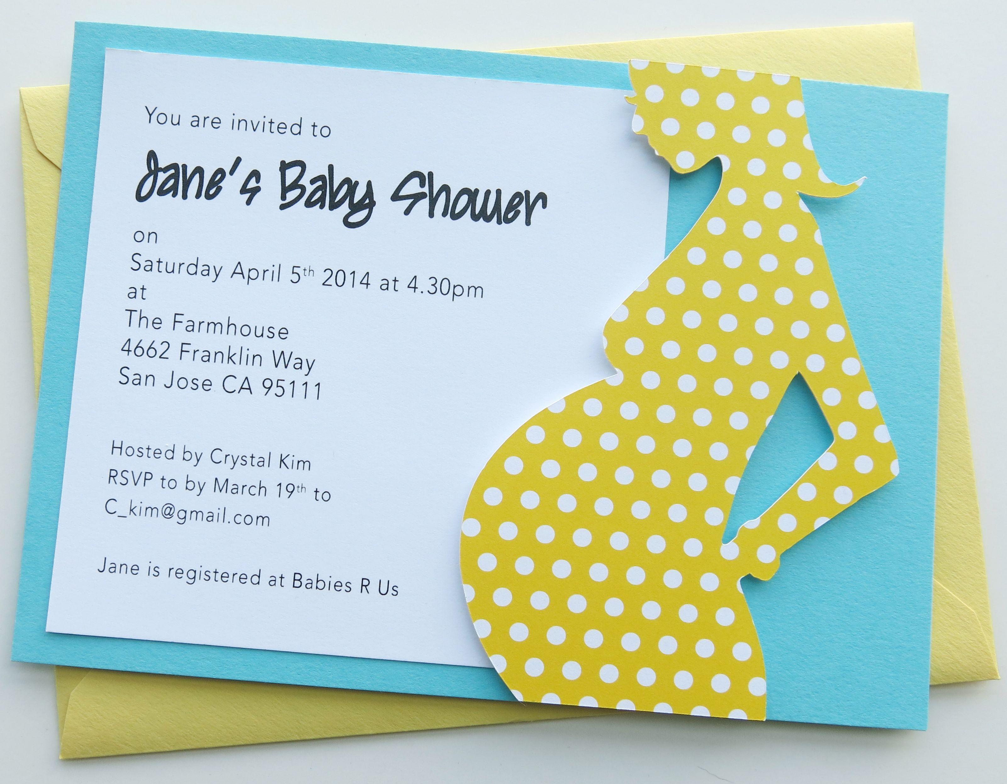 Handmade 3D Baby Shower Invitation | Baby Shower Invitations ...