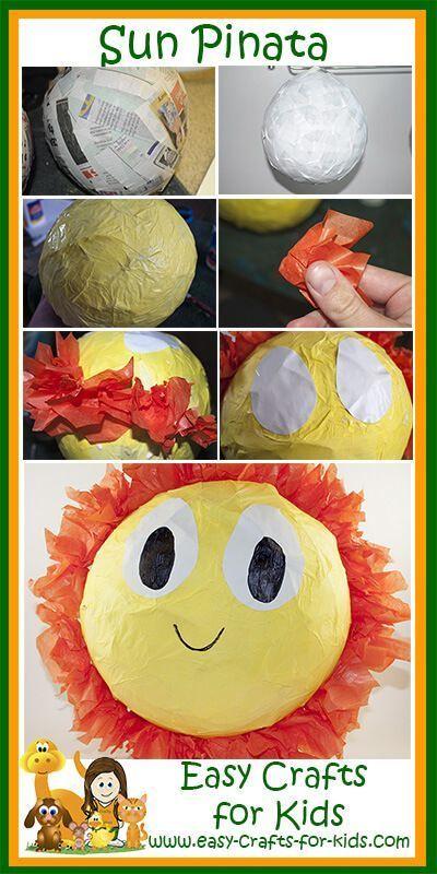 Summer Crafts Kids and Summer Pinata Fun!