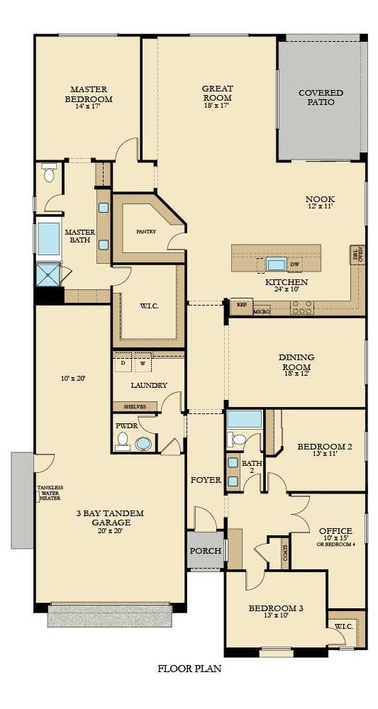 The Amethyst Plan 2700 New Home Plan In Brookstone At Spring Lake House Plans New House Plans Floor Plan Design