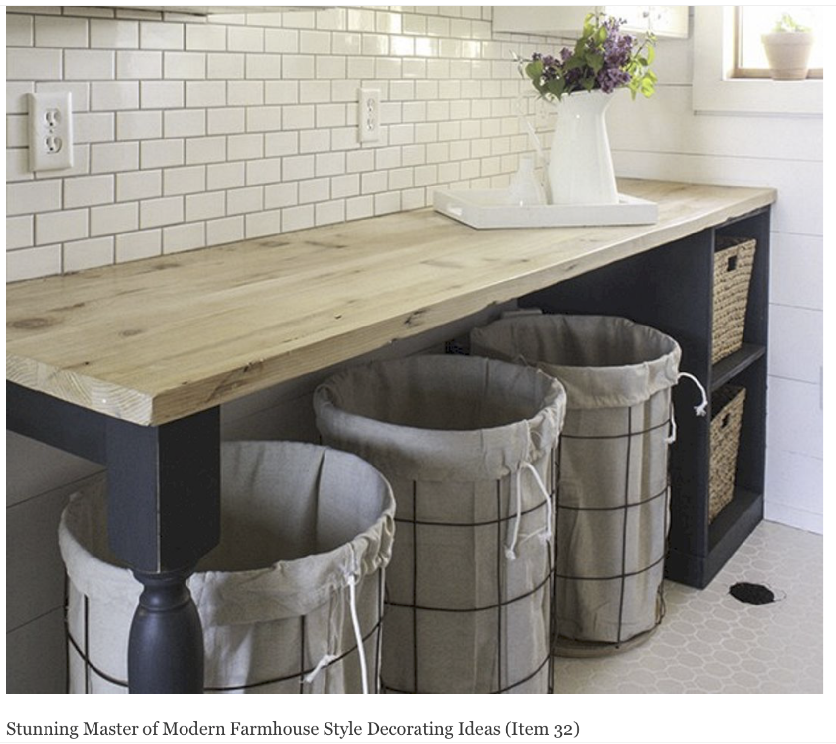 Modern Rustic Laundry Hamper Laundry Room Remodel Laundry Room