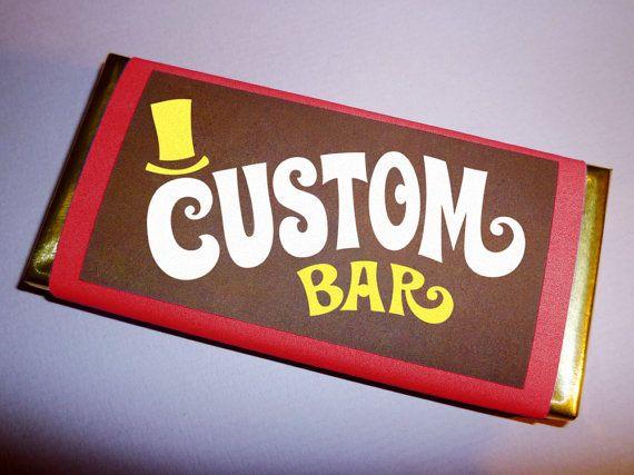 custom chocolate wrapper