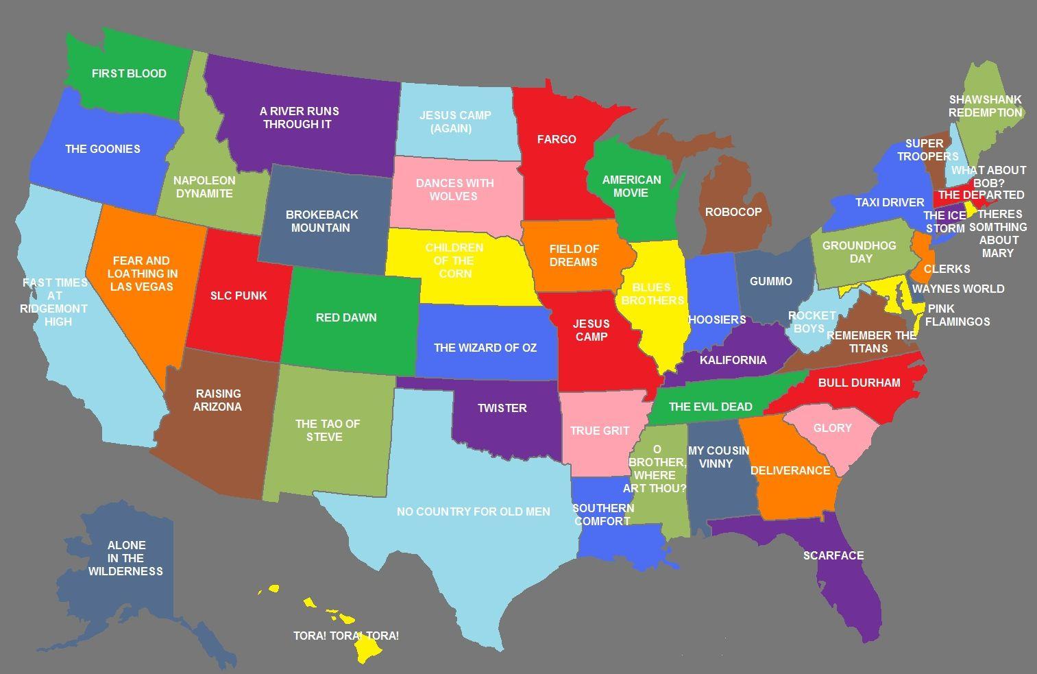 Around America At The Movies Movie Map Good Movies Movies