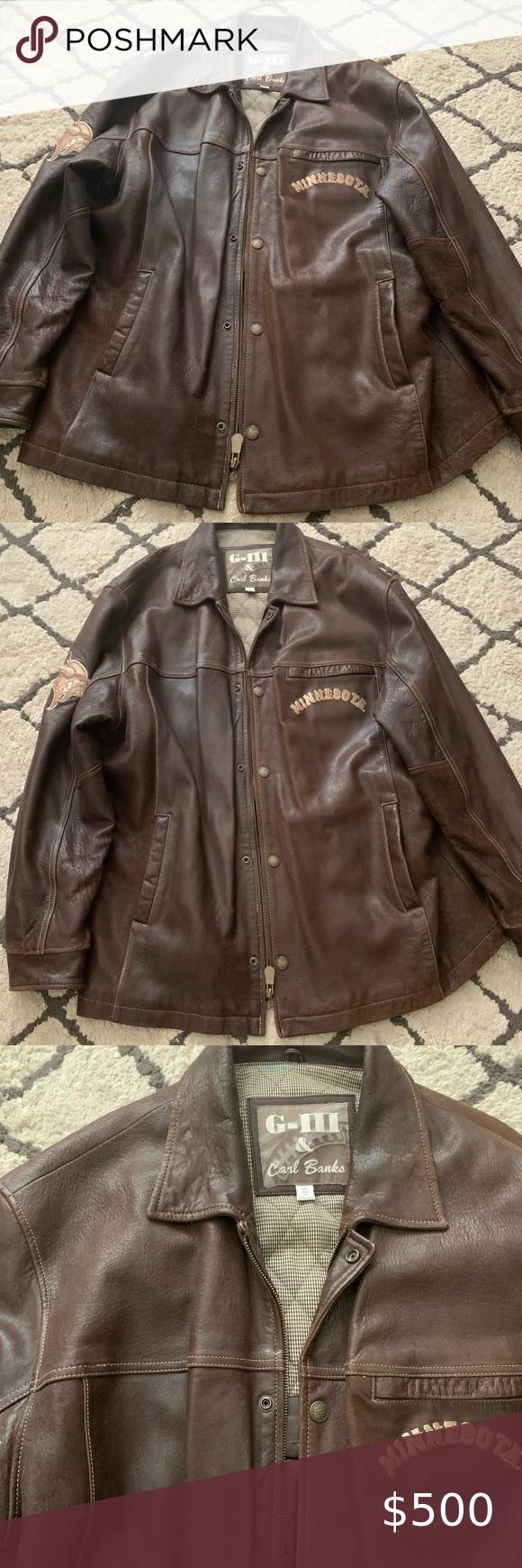 Minnesota Vikings Leather Jacket Leather Jacket Jackets Leather [ 1740 x 580 Pixel ]