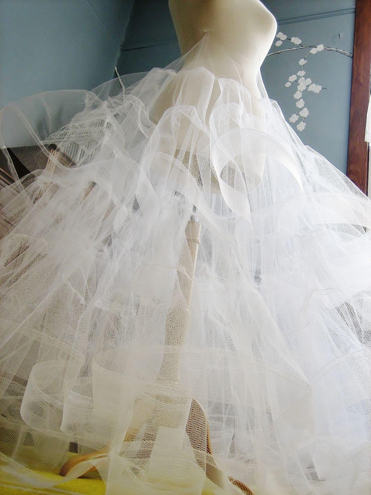 veronica sheaffer petticoat crinoline ballgown tulle horsehair braid ...