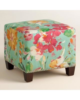 Paint Palette McKenzie Upholstered Ottoman Fabric By World Market Extraordinary Pouf Ottoman World Market