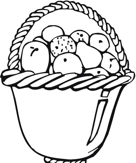 fruit basket coloring pages printable - photo#14