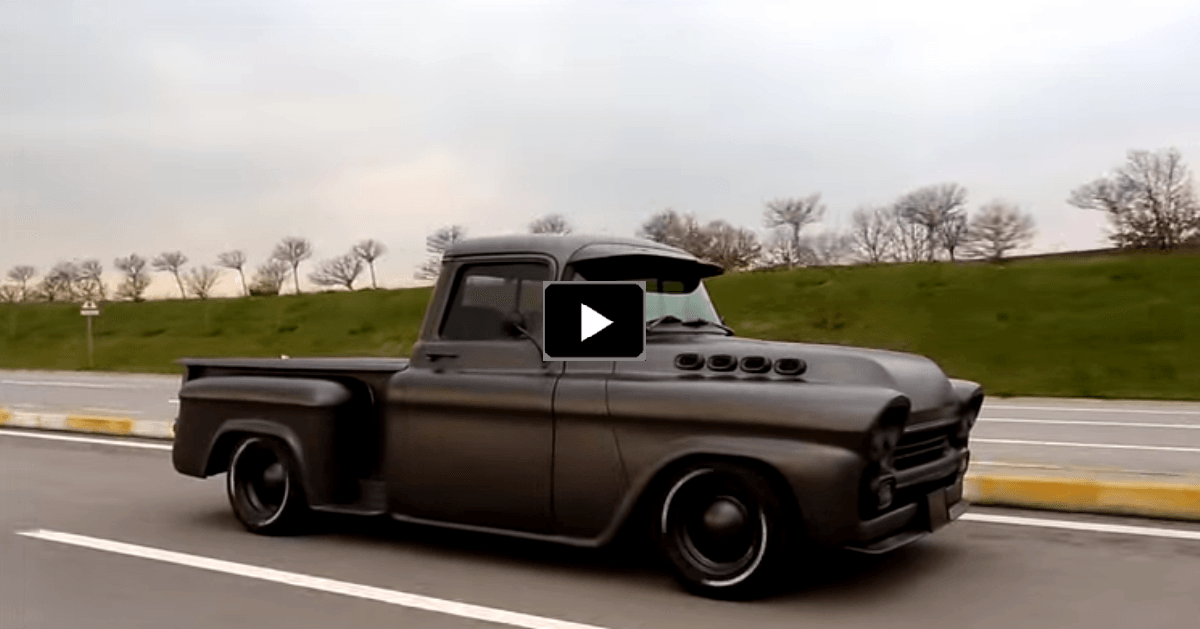 Bad To The Bone 1958 Chevy Apache Pick Up Truck Nice Pinterest