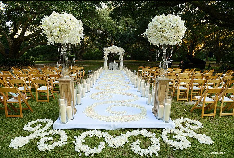 New Orleans Weddings And Events Florist Candle Decor
