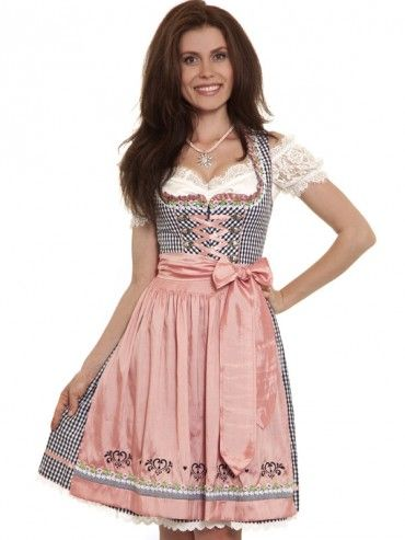 Mini Dirndl Jolina Blau Rosa Kruger Madl Traditionelle Kleidung Dirndl Trachten Fashion