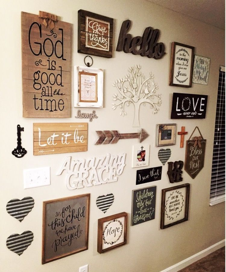 My Rustic Country Chic Gallery Wall Rustic Gallery Wall Family Wall Decor Wall Decor Living Room