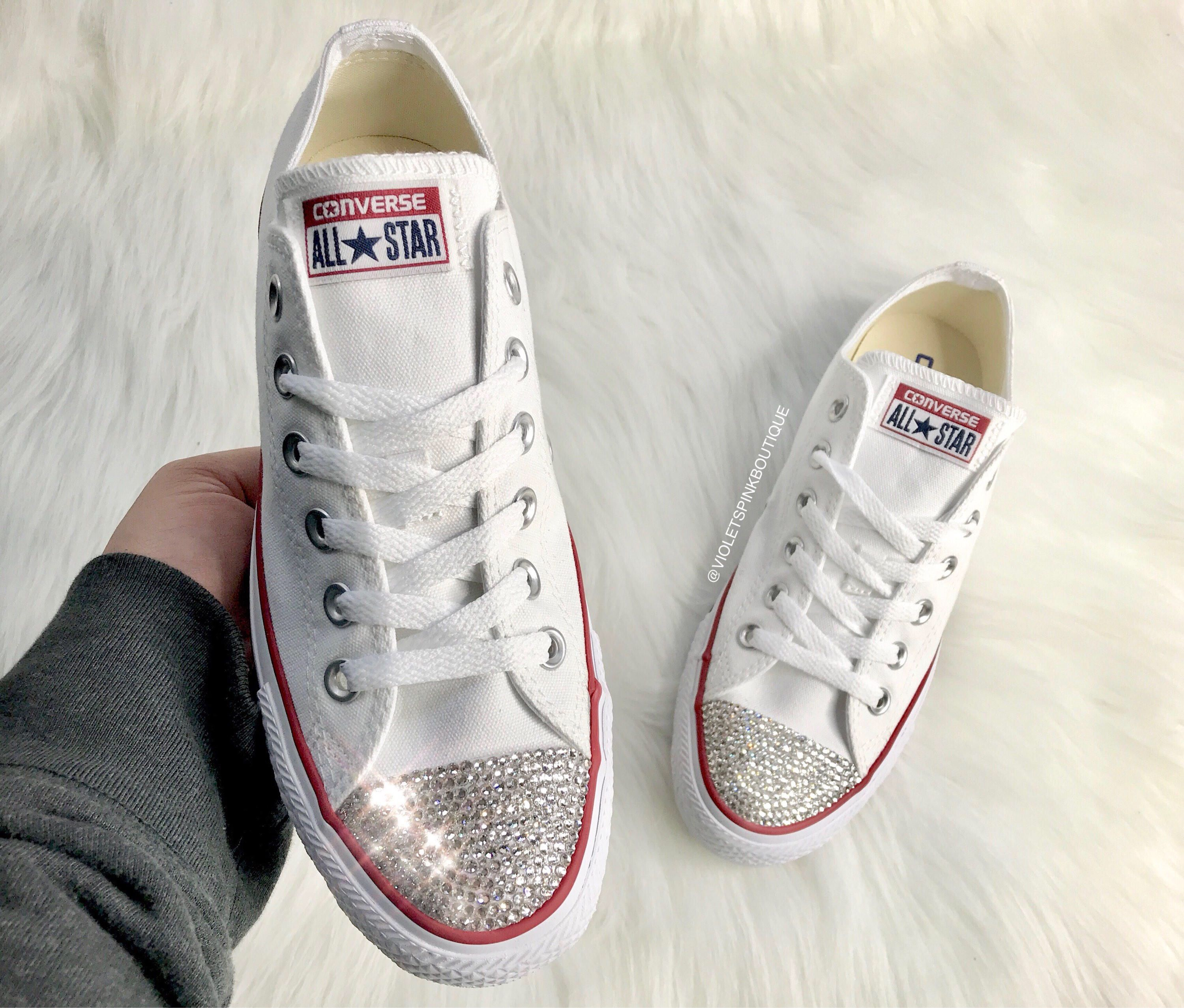 f73ab0215e96b Pin by violetspinkboutique on Swarovski Customs | Wedding sneakers ...