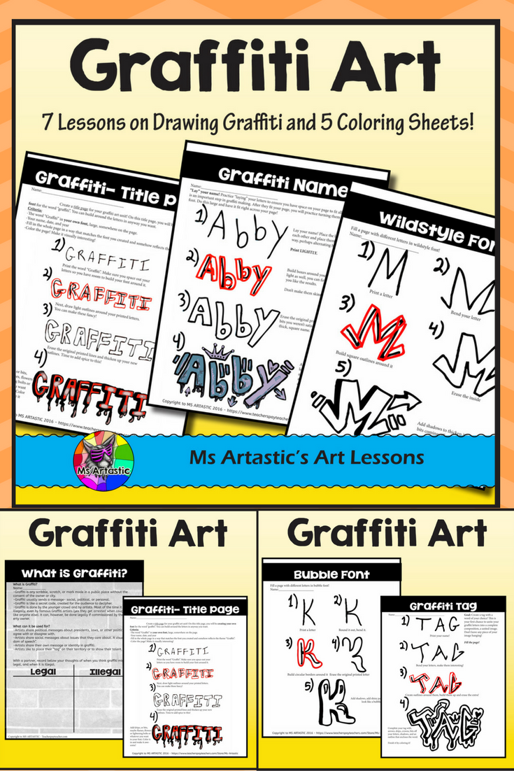 Let Your Students Learn The Basics Of Drawing In The Style Of Graffiti Through This Thorough Product This Is A Great Way To Teach Technique Of A Specific