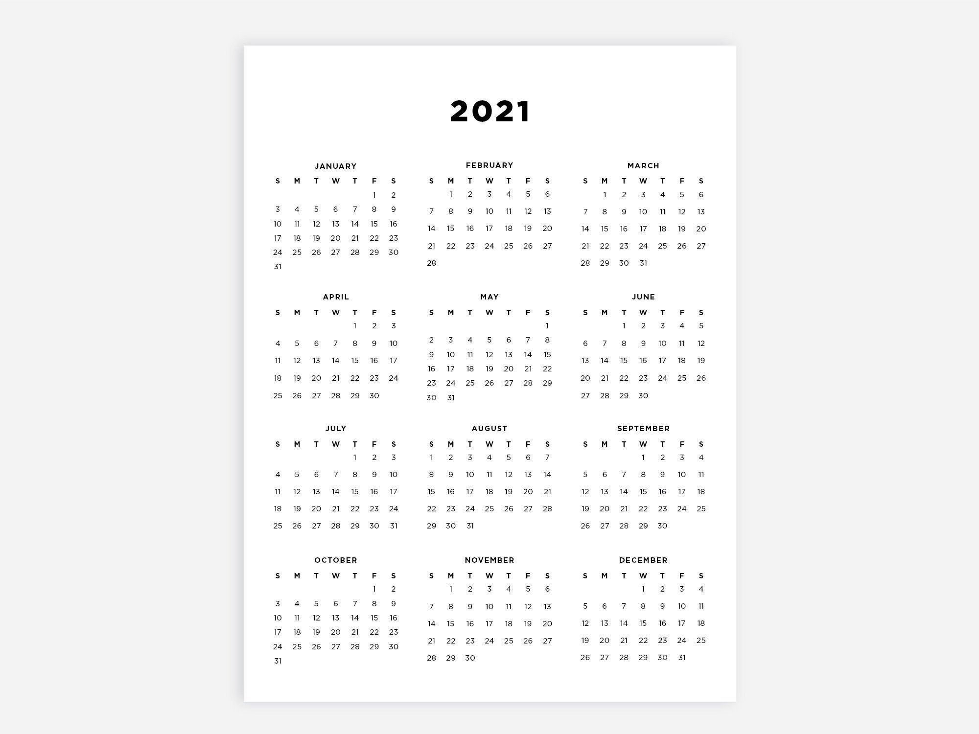 20+ Calendar 2021 Xls - Free Download Printable Calendar ...