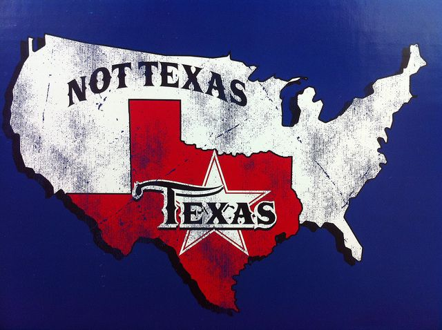 Texas Not Texas Map Texas / Not Texas. its funny because texans think its true   I
