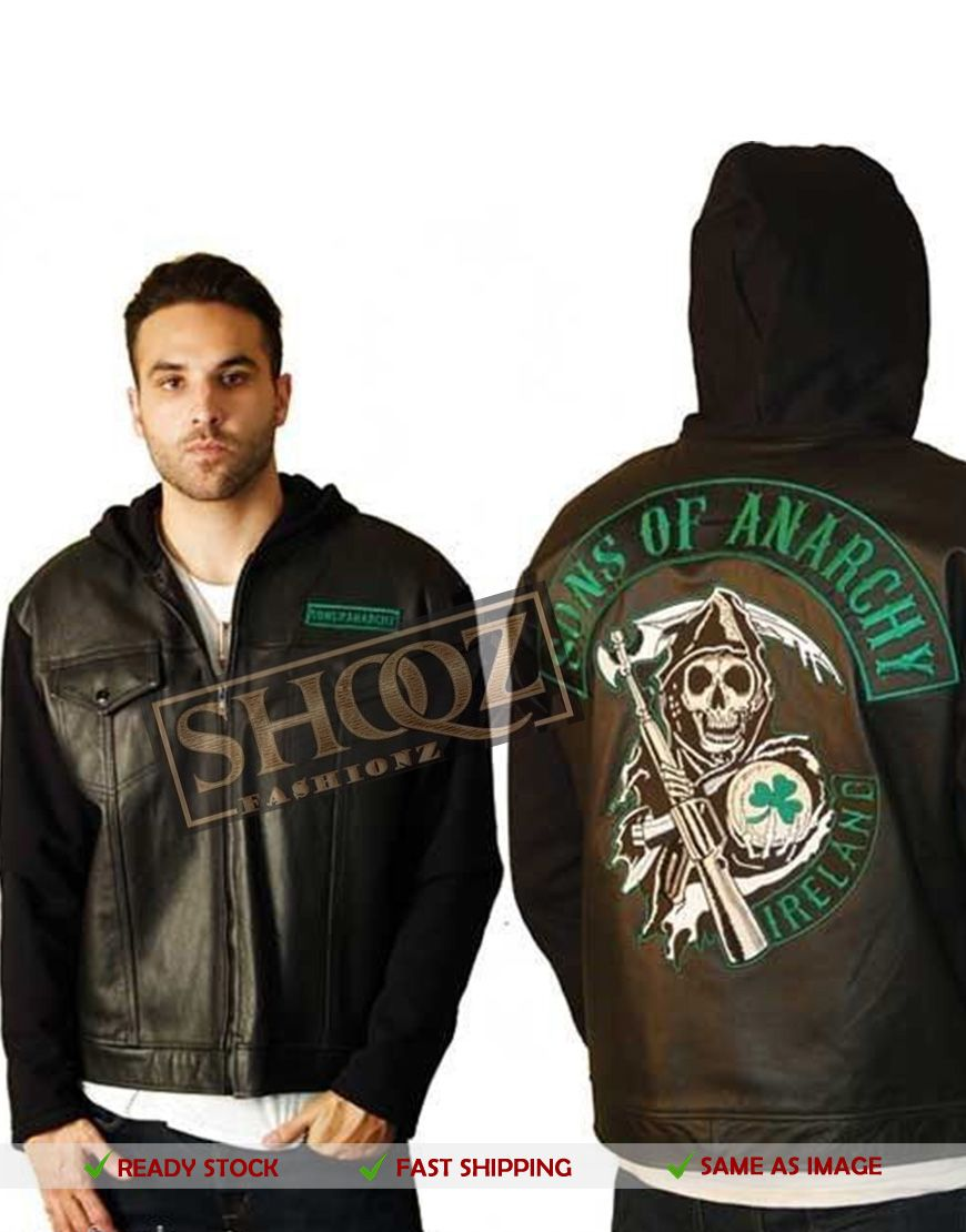 50 Off Sons Of Anarchy Ireland Highway Leather Jacket Leather Jacket Men Sons Of Anarchy Ireland Hoodie Jacket [ 1110 x 870 Pixel ]