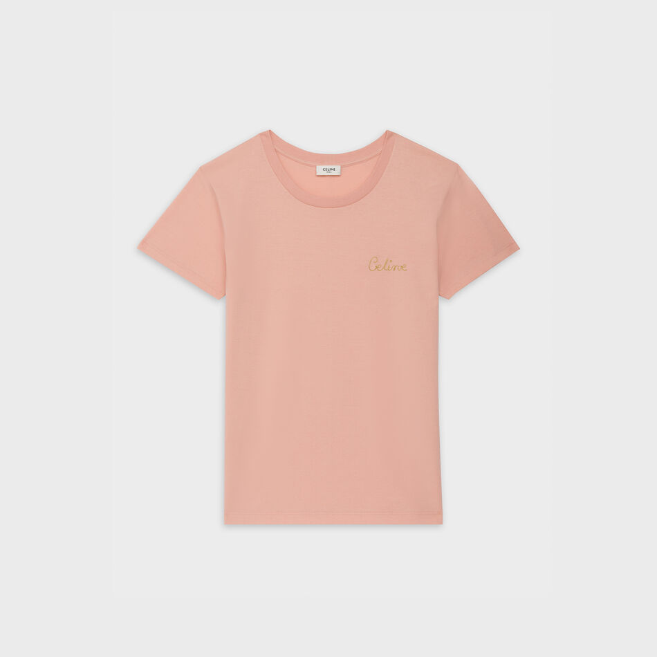 Embroidered t shirt in cotton